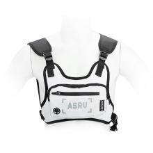 Pouzdro pro Apple iPhone + reflexní vesta na běhání + kapsa na drobnosti - látkové - bílé