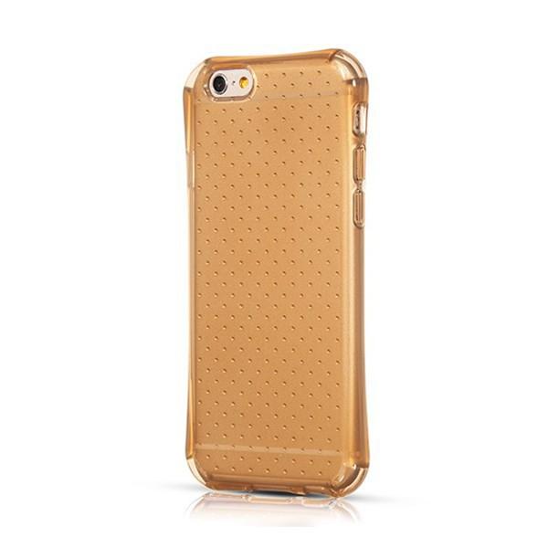 Gumový kryt HOCO pro Apple iPhone 6 / 6S - průhledný s tečkami - zlatě probarvený