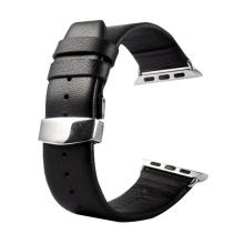 Řemínek KAKAPI pro Apple Watch 40mm Series 4 / 5 / 6 / SE / 38mm 1 / 2 / 3 + šroubovák - kožený - černý
