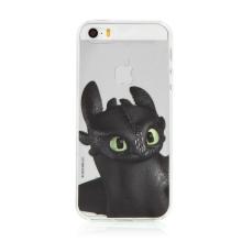 """Kryt """"Jak vycvičit draka"""" pro Apple iPhone 5 / 5S / SE - gumový - průhledný - Bezzubka"""