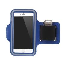 Sportovní pouzdro pro Apple iPhone 6 / 6S - tmavě modré s reflexním pruhem