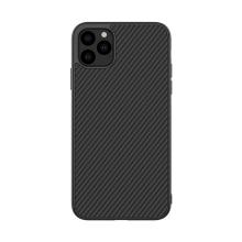 Kryt NILLKIN Synthetic Fibre pro Apple iPhone 11 Pro - gumový / karbonový - černý