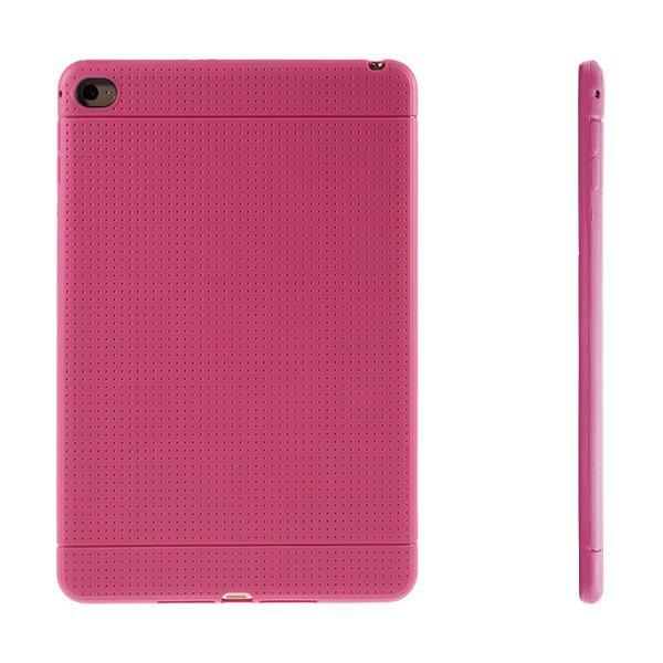 Gumový kryt / pouzdro pro Apple iPad mini 4 - tečkovaný - růžový
