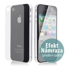 Ochranná fólie pro Apple iPhone 4 / 4S - oboustranná s efektem námrazy