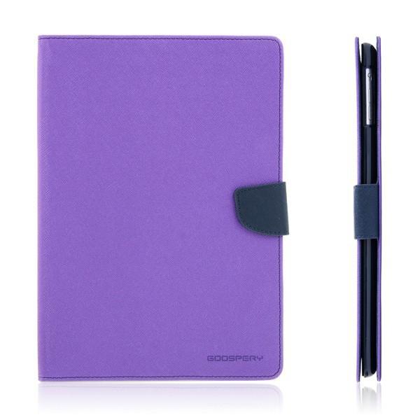 Ochranné pouzdro se stojánkem a prostorem pro platební karty pro Apple iPad Air 1.gen. - fialovo-modré