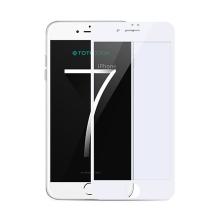 Tvrzené sklo (Tempered Glass) TOTU 3D pro Apple iPhone 7 - bílý rámeček (tl. 0,23mm)