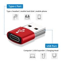 Redukce / adaptér  USB-C samice / USB-A samec - oválná - černá