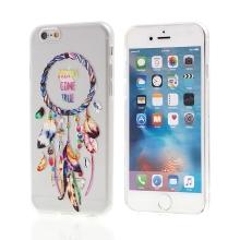 Kryt pro Apple iPhone 6 / 6S gumový - průhledný - lapač snů