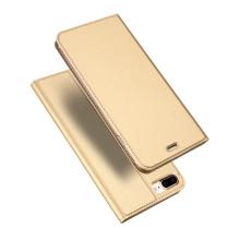 Pouzdro DUX DUCIS pro Apple iPhone 7 Plus / 8 Plus - stojánek + prostor pro platební kartu - zlaté
