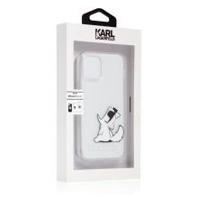 Kryt KARL LAGERFELD Mlsná Choupette pro Apple iPhone 12 mini - plastový / gumový - průhledný