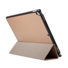"""Pouzdro / kryt pro Apple iPad Pro 12,9"""" / 12,9"""" (2017) - integrovaný stojánek - umělá kůže - zlaté"""