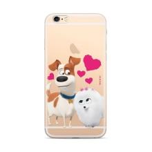 """Kryt """"Tajný život mazlíčků"""" pro Apple iPhone 6 / 6S - motiv psů - průhledný"""