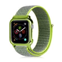 Řemínek pro Apple Watch 44mm Series 4 + pouzdro - nylonový - zelený
