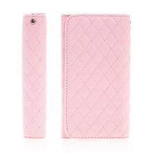 Pouzdro / peněženka pro Apple iPhone - prostor pro umístění platební karty - růžové