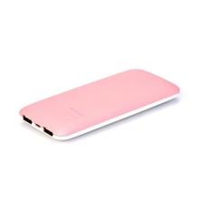 Externí baterie / power bank PURIDEA - 7000 mAh - 2x USB, 2A - bílá / růžová