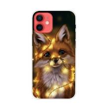 Kryt pro iPhone 12 / 12 Pro - gumový - liška se světélky
