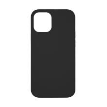 Kryt TACTICAL Velvet Smoothie pro Apple iPhone 12 Pro Max - příjemný na dotek - silikonový - asfaltově černý