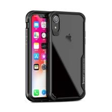 Kryt IPAKY pro Apple iPhone Xr - plastový / gumový - průhledný / černý