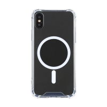 Kryt pro Apple iPhone X / Xs - zesílené rohy - MagSafe magnety - plastový / gumový - průhledný