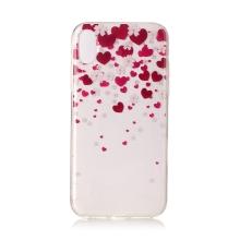 Kryt pro Apple iPhone X / Xs - gumový - srdce a květy