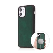 Kryt pro Apple iPhone 12 mini - Magsafe - plastový / umělá kůže - zelený
