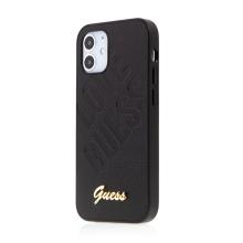 Kryt GUESS IriDescent Love pro Apple iPhone 12 mini - umělá kůže - černý