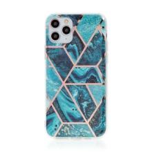 Kryt pro Apple iPhone 11 Pro - mramorová textura - gumový - modrý / zelený