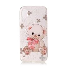 Kryt pro Apple iPhone X / Xs - gumový - gumový - medvídek
