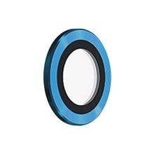Tvrzené sklo (Tempered Glass) DEVIA pro Apple iPhone 13 Pro / Pro Max - na čočku fotoaparátu - s kamínky - 3 ks - modré