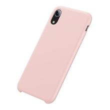 Kryt BASEUS pro Apple iPhone Xr - příjemný na dotek - silikonový - růžový