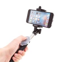 Selfie tyč / monopod SWISSTEN teleskopická + bluetooth dálkové ovládání / spoušť - černá