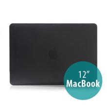 Tenký plastový obal / kryt pro Apple MacBook 12 Retina (rok 2015) - lesklý - černý