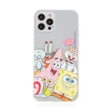 Kryt Sponge Bob pro Apple iPhone 12 / 12 Pro - gumový - Sponge Bob s kamarády