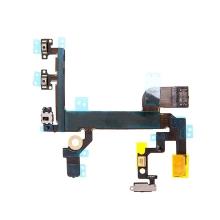 Flex s mikrospínači POWER, VOLUME, přepínač MUTE, blesk kamery a vrchní mikrofon pro Apple iPhone SE - kvalita A