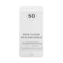 """Tvrzené sklo (Tempered Glass) """"5D"""" pro Apple iPhone 7 / 8 - 2,5D - barevný rámeček - čiré - 0,3mm"""