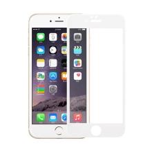 Odolné tvrzené sklo (Tempered Glass) na přední část Apple iPhone 6 / 6S (tl. 0.3mm) - bílý rámeček