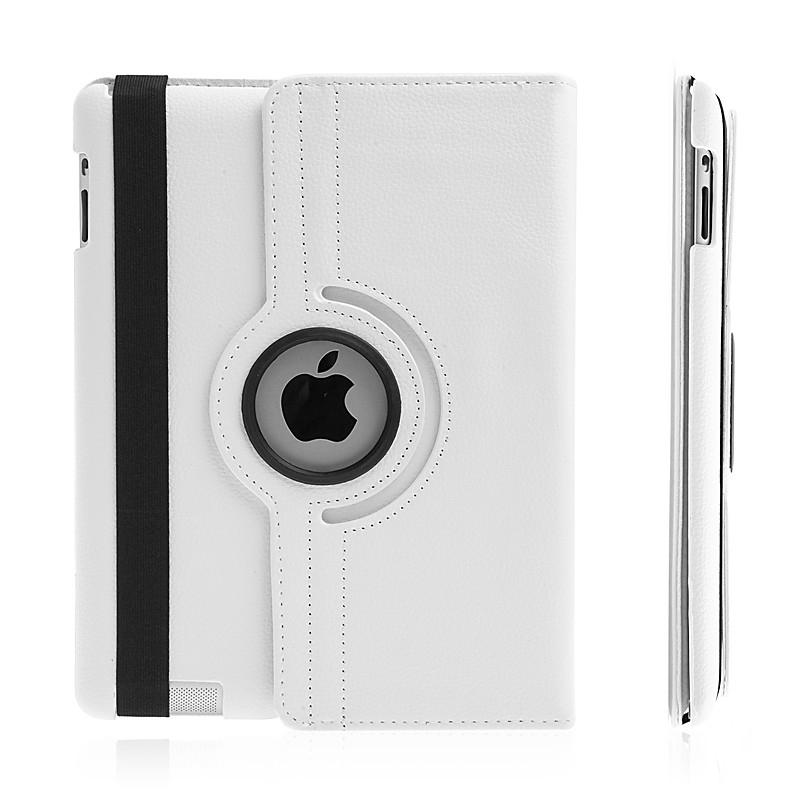 Pouzdro / kryt pro Apple iPad 2. / 3. / 4.gen - 360° otočný držák - bílé