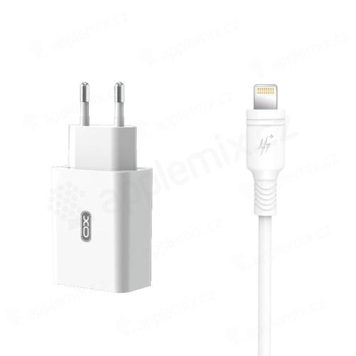 2v1 nabíjecí sada XO pro Apple zařízení - EU adaptér a kabel Lightning - 18W - bílá