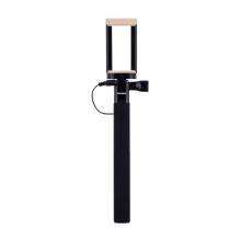 Selfie tyč / monopod MOMAX - kabelová spoušť - černá / béžová