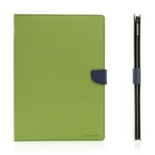 Pouzdro MERCURY Fancy Diary pro Apple iPad Pro 12,9 - stojánek a prostor na doklady - zelené / modré
