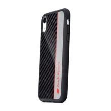 Kryt AUDI Sport pro Apple iPhone Xr - karbon / černý + červený nápis