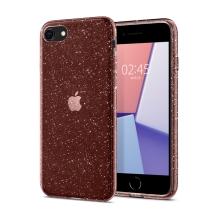 Kryt SPIGEN Crystal Glitter pro Apple iPhone 7 / 8 / SE 2020 (2020) - gumový - růžové třpytky