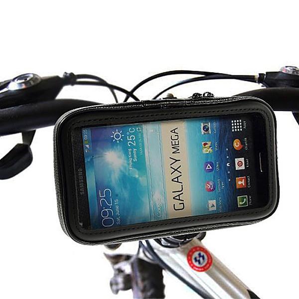 Voděodolné pouzdro s držákem na kolo / motorku pro Apple iPhone 6 Plus / 6S Plus / 7 Plus a další zařízení vel. až 6,3 - černé