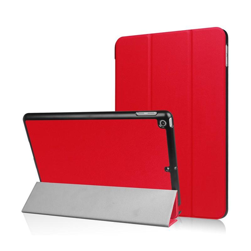 Pouzdro / kryt pro Apple iPad 9,7 (2017-2018) - funkce chytrého uspání + stojánek - červené