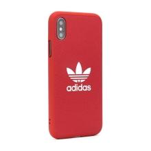 Kryt ADIDAS Originals pro Apple iPhone X / Xs - gumový - látkový - červený