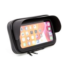 Sportovní pouzdro na motorku / kolo pro Apple iPhone - stínítko - držák s očkem - voděodolné - černé