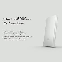 Externí baterie / power bank XIAOMI - 5000 mAh - USB-A 2,1A - vstup Micro USB - stříbrná