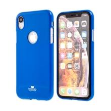 Kryt MERCURY Jelly pro Apple iPhone Xr - výřez pro logo - gumový - modrý