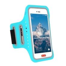 Sportovní pouzdro pro Apple iPhone včetně velikostí Plus a Max - reflexní prvky - modré