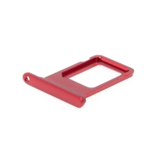 Rámeček / šuplík na Nano SIM pro Apple iPhone 11 - červený - kvalita A+